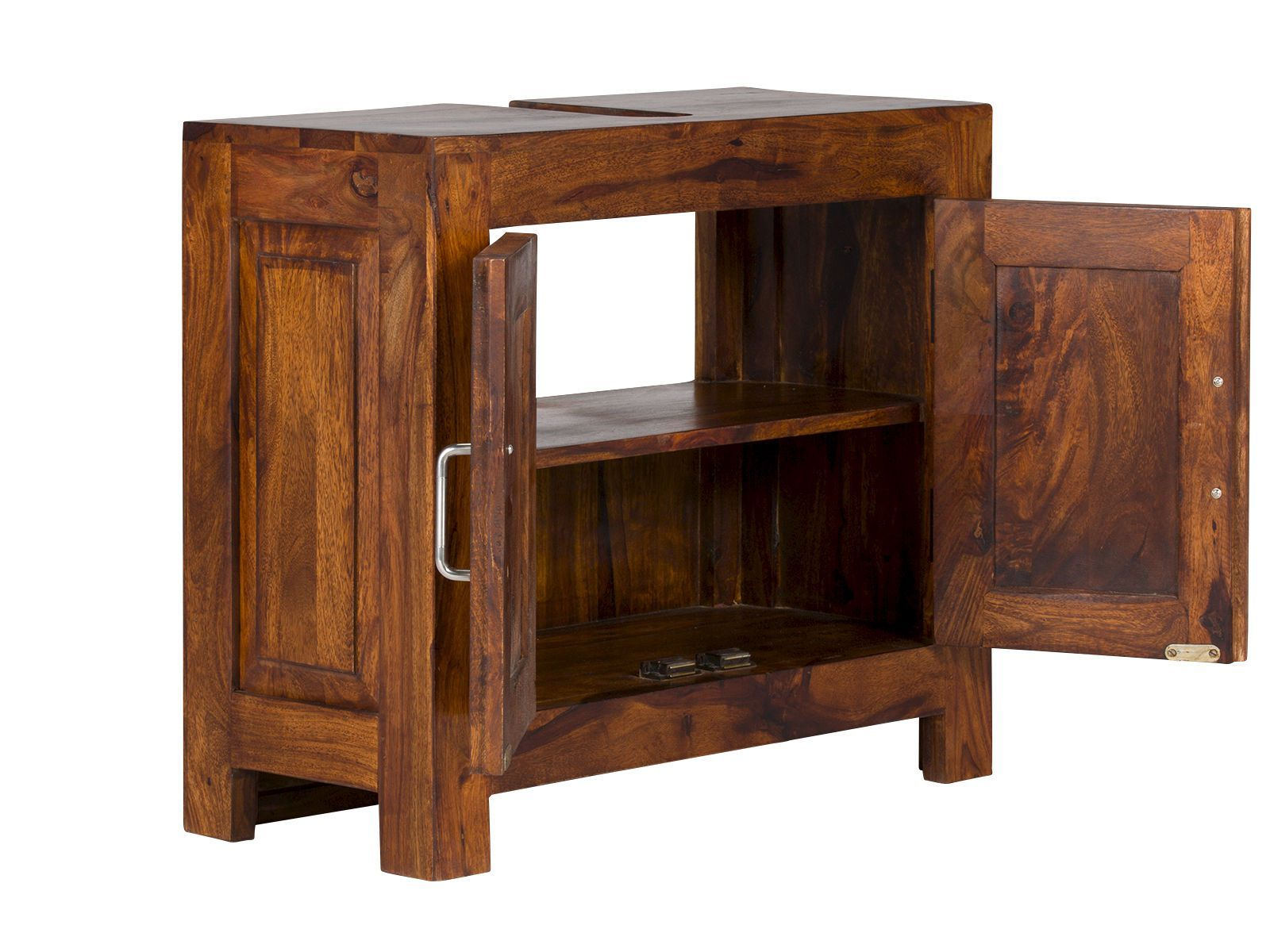 Waschbeckenunterschrank-Cubus-aus-massivem-Palisanderholz-braun ...