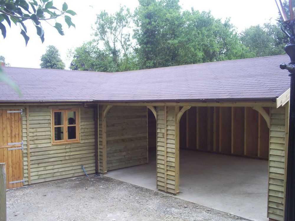 L Shaped Garage Google Search Cabin Shed Pinterest