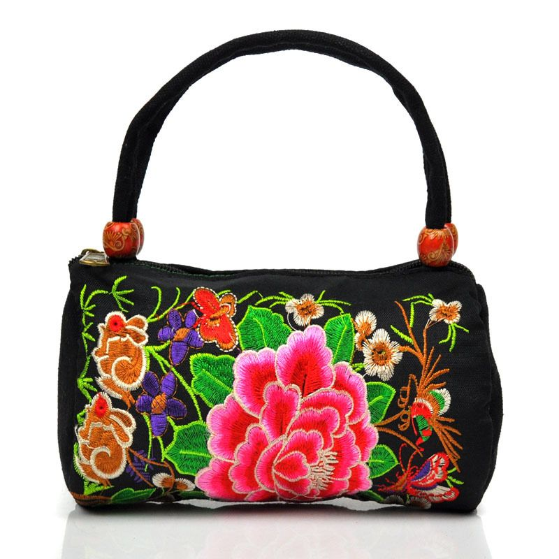 Chinese Handmade Embroidery Handbags Women Vintage Embroidered Flowers Messenger Bags Bolsos Etnicos Bags Fashion Clutch Bags