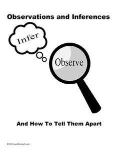Obervation And Infrence Observation Vs Inference Worksheet Scientific Method