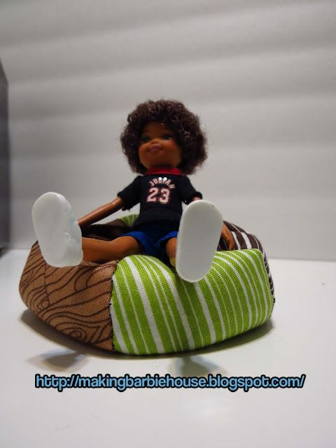 Tutorial How To Make A Barbie Bean Bag Chair I Wanted Share With You Made For The Kid Size Barbies Plan