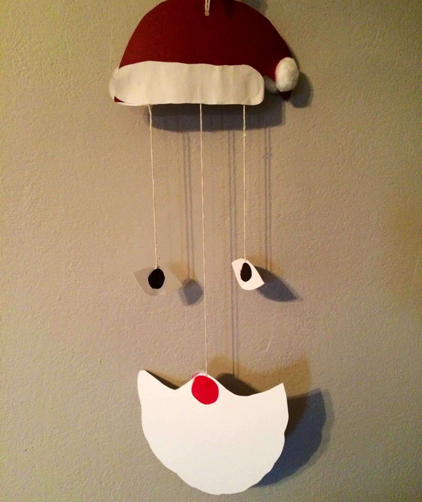 Santa Mobile Craft 15 Christmas Crafts For Kids -- The