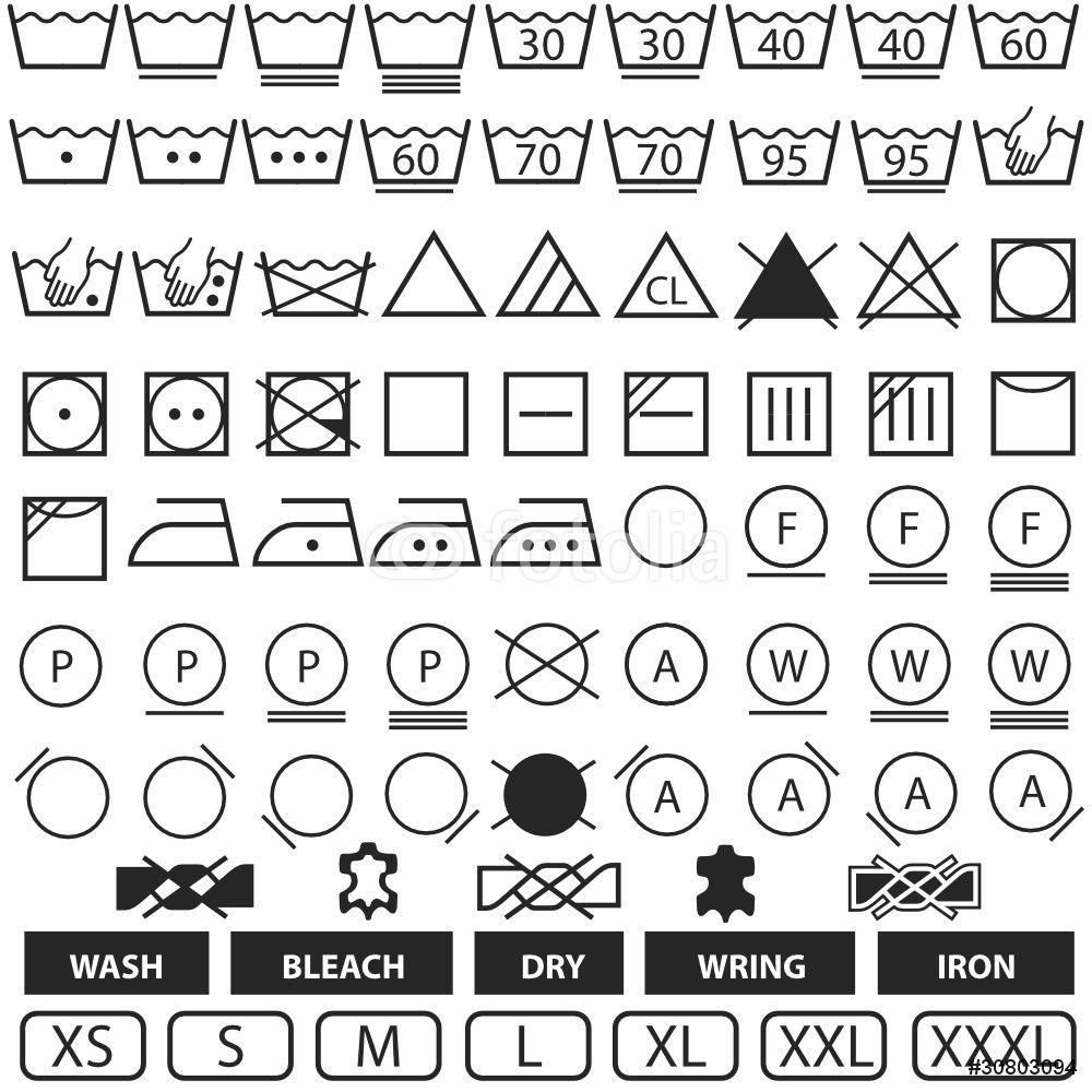 Wash Symbols Wall Sticker | StickerStudio