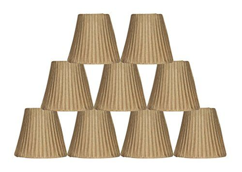 Urbanest box pleated mini chandelier lamp shade gold 3x5x45 urbanest box pleated mini chandelier lamp shade gold 3x5x45 softback clip on set of 9 you can find out more details at the link of the image aloadofball Image collections