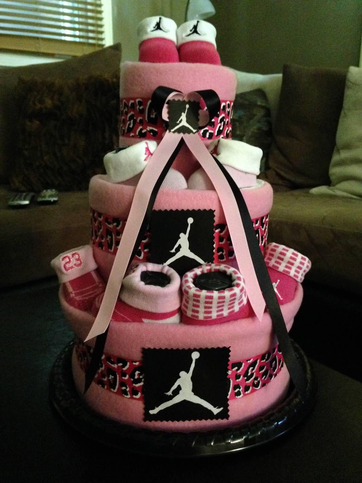 Michael Jordan Inspired Diaper Cake Michael Jordan inspired diaper