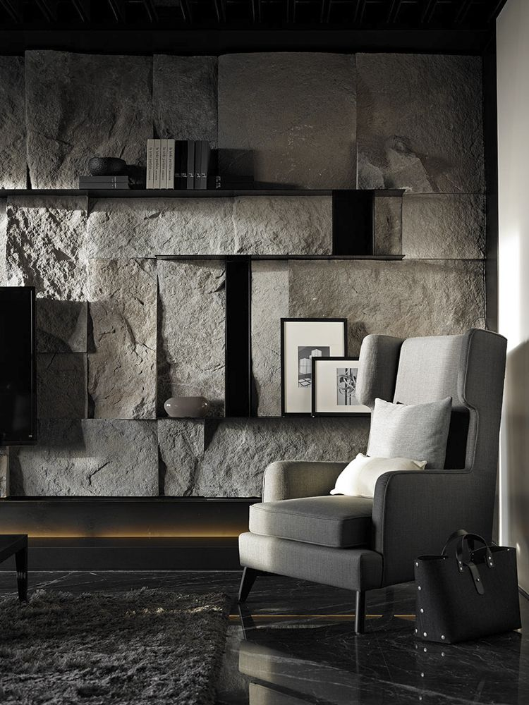 Pin 8 A Statement Making Stone Wall In The Living Room I Feel As