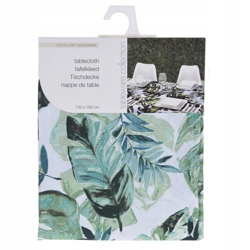 Dekoracja Obrus Jungle Liscie Tropikalne 130x180cm 8118619129 Oficjalne Archiwum Allegro Table Cloth Art Book Cover