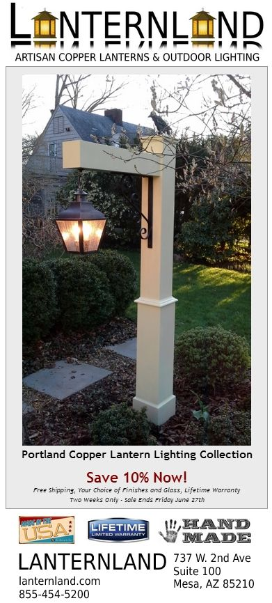 On sale now the portland copper lantern outdoor lighting collection on sale now the portland copper lantern outdoor lighting collection by lanternland save 10 aloadofball Image collections