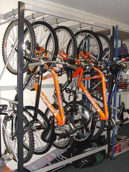 Hanging Bike Storage Maybe Hanging From A Ladder Organization Yes Vertical Bike Storage