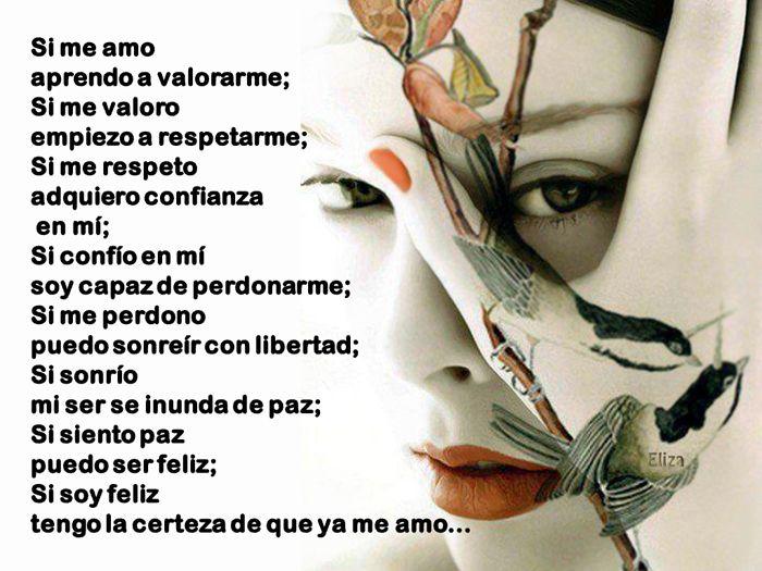 Tarjetas y Postales: Si me amo...