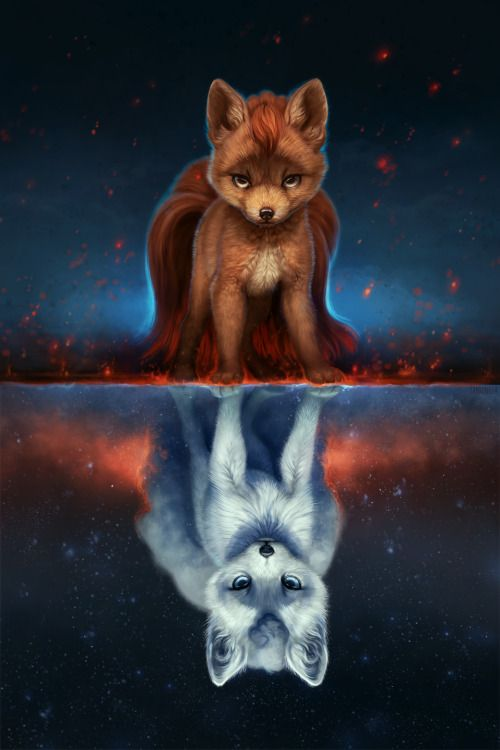 My Take On Our New Fire And Ice Vulpix Duo Loving These Alola Forms Deviantart Anime Animals Animal Paintings Cute Animals