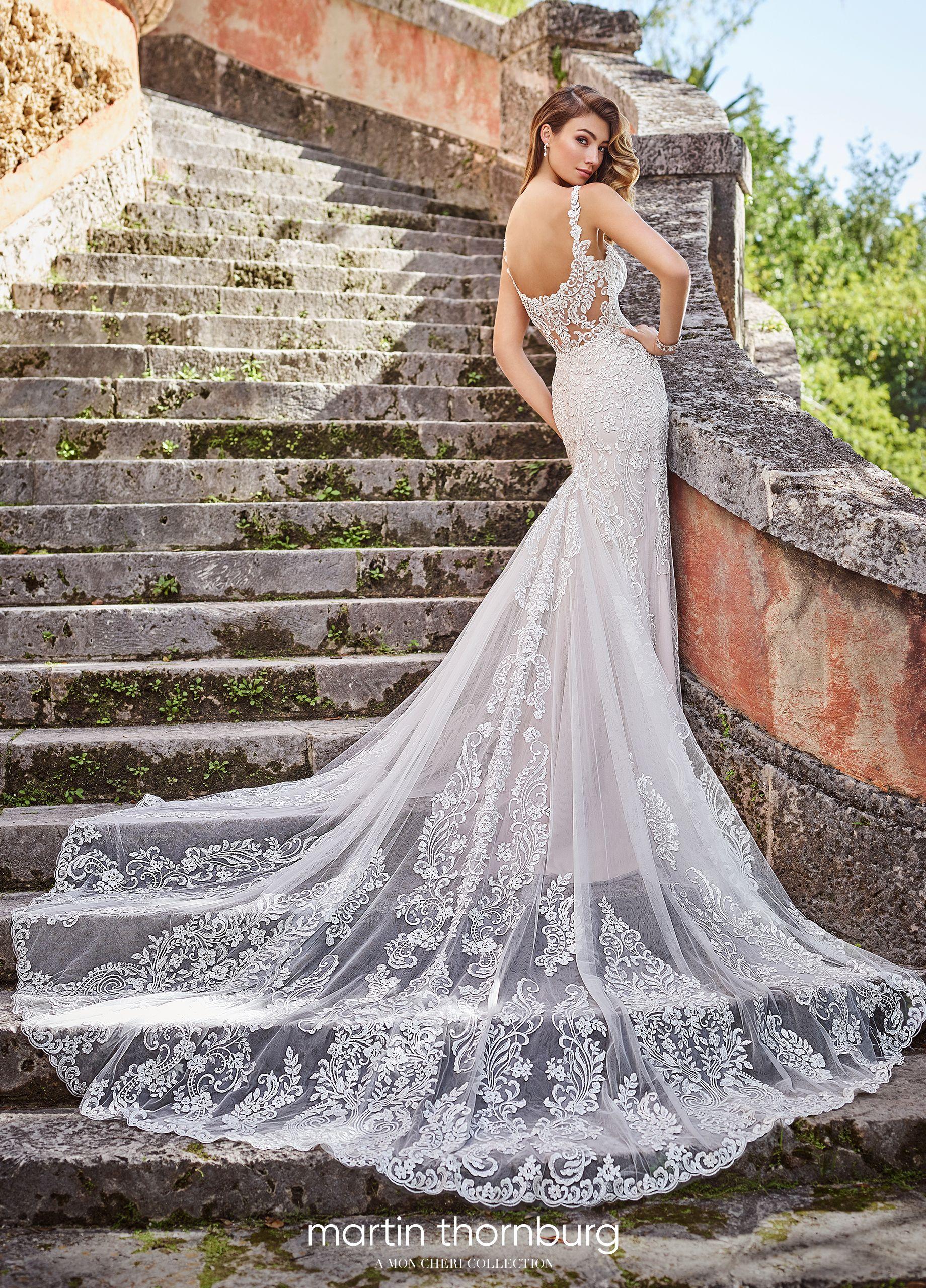 Martin Thornburg Marissa Fit And Flare Wedding Dress Wedding Dresses Lace Designer Wedding Dresses