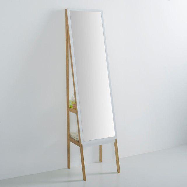 miroir sur pied 2 tag res lindus la redoute interieurs la redoute mobile salle de bain. Black Bedroom Furniture Sets. Home Design Ideas