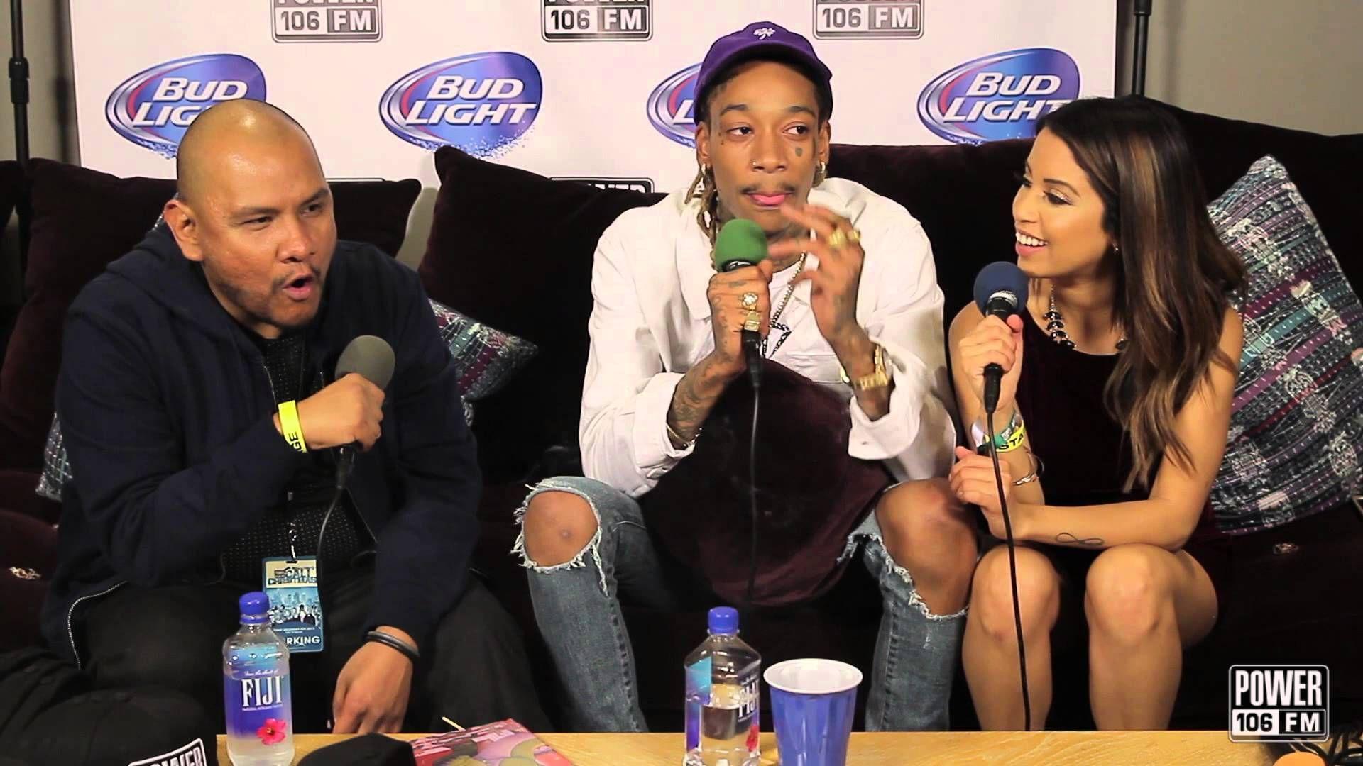 Wiz Khalifa talks about his new face tattoo on the Cruz Show at ...