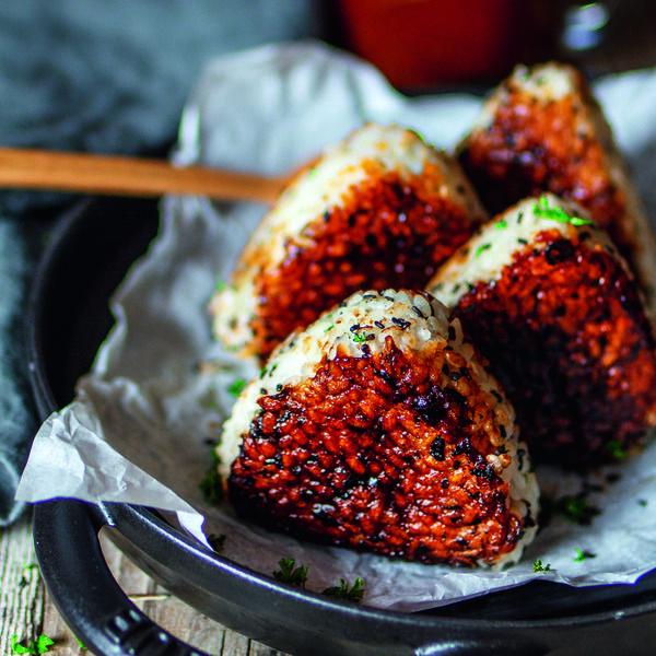 Vegan Grilled Onigiri with Japanese-Style BBQ Glaze