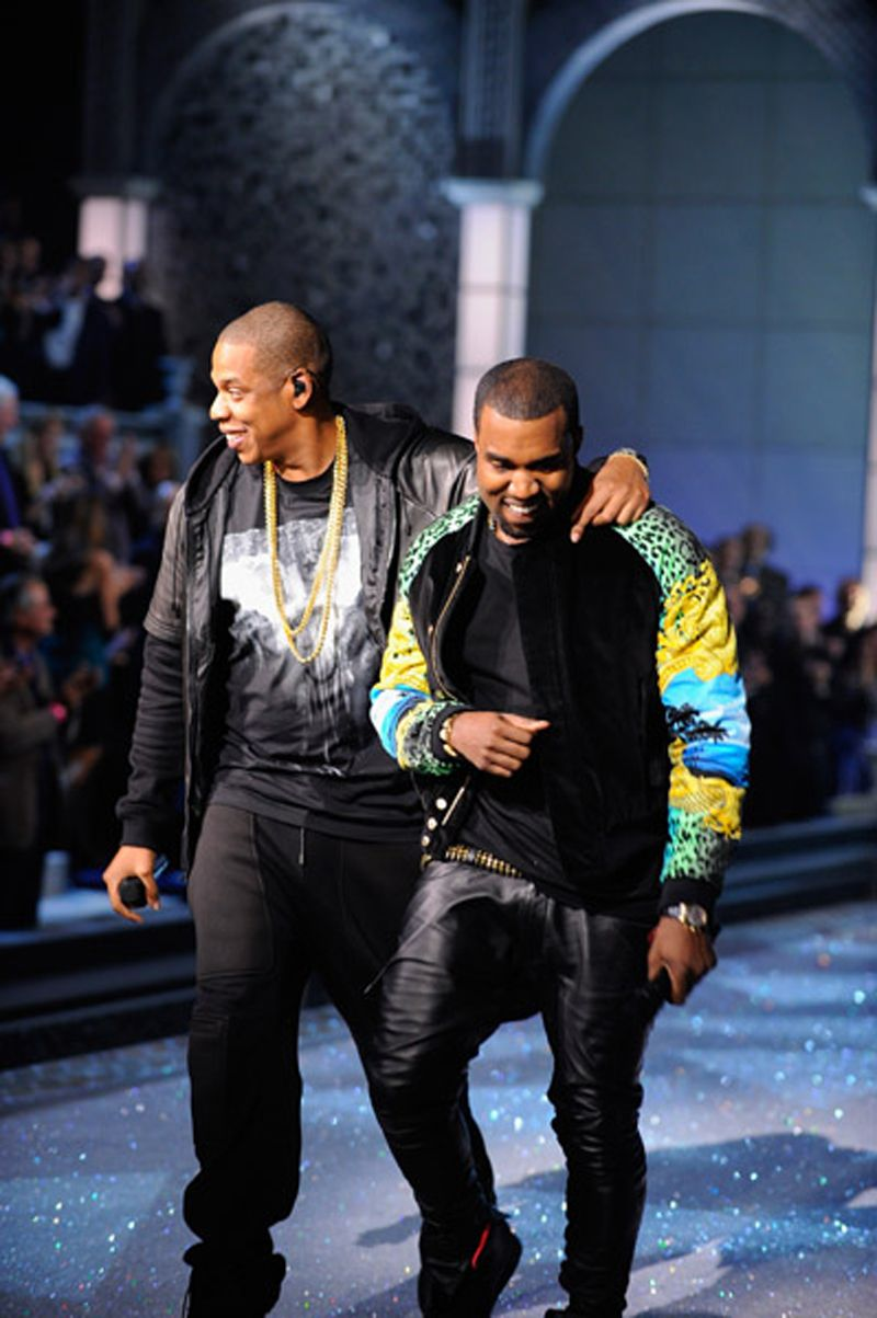Jay Z And Kanye West At The Victoria Secrets Fashion Show Kanye Fashion Kanye West Style Kanye West