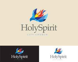 free church logos holyspirit city church logo design details