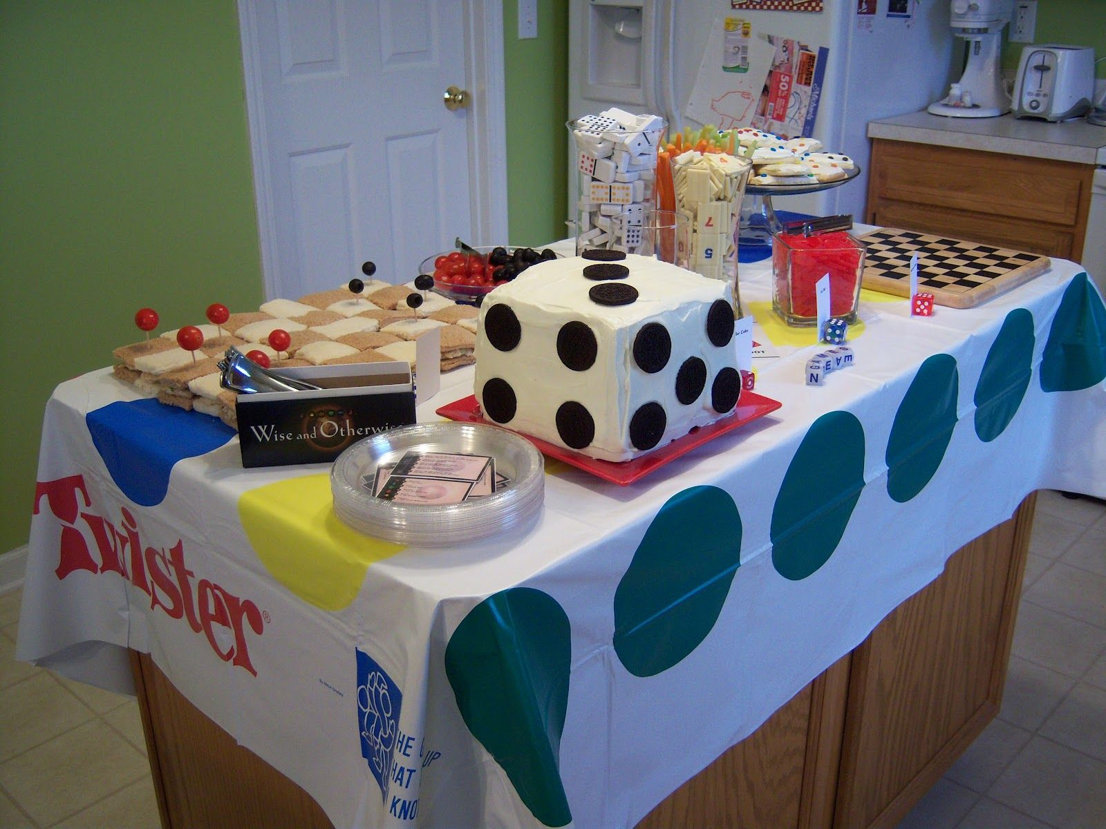 Food Table For A Game Night Themed Event