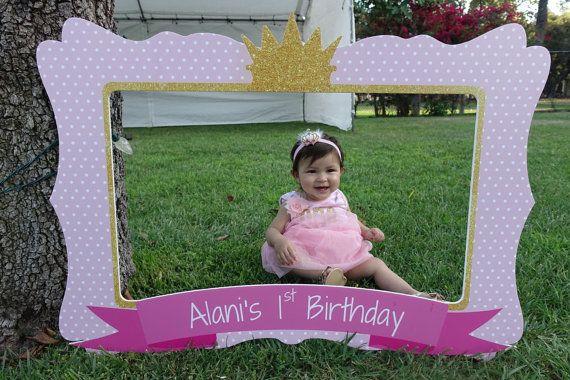 Princess Birthday Frame First Birthday Party Photo Booth Frame