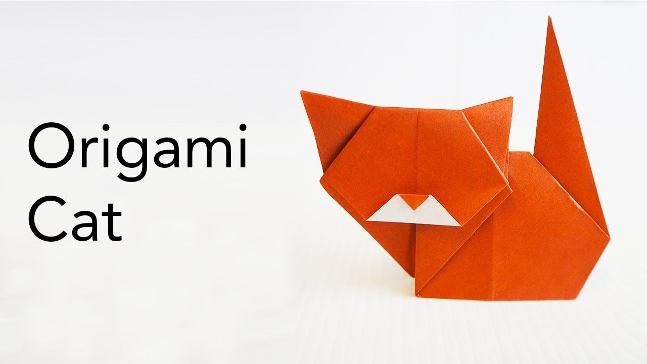 Easy Kids Origami Cat Tutorial Designed By Keiji Kitamura Origami Cat Origami Cat Face Easy Cat Origami