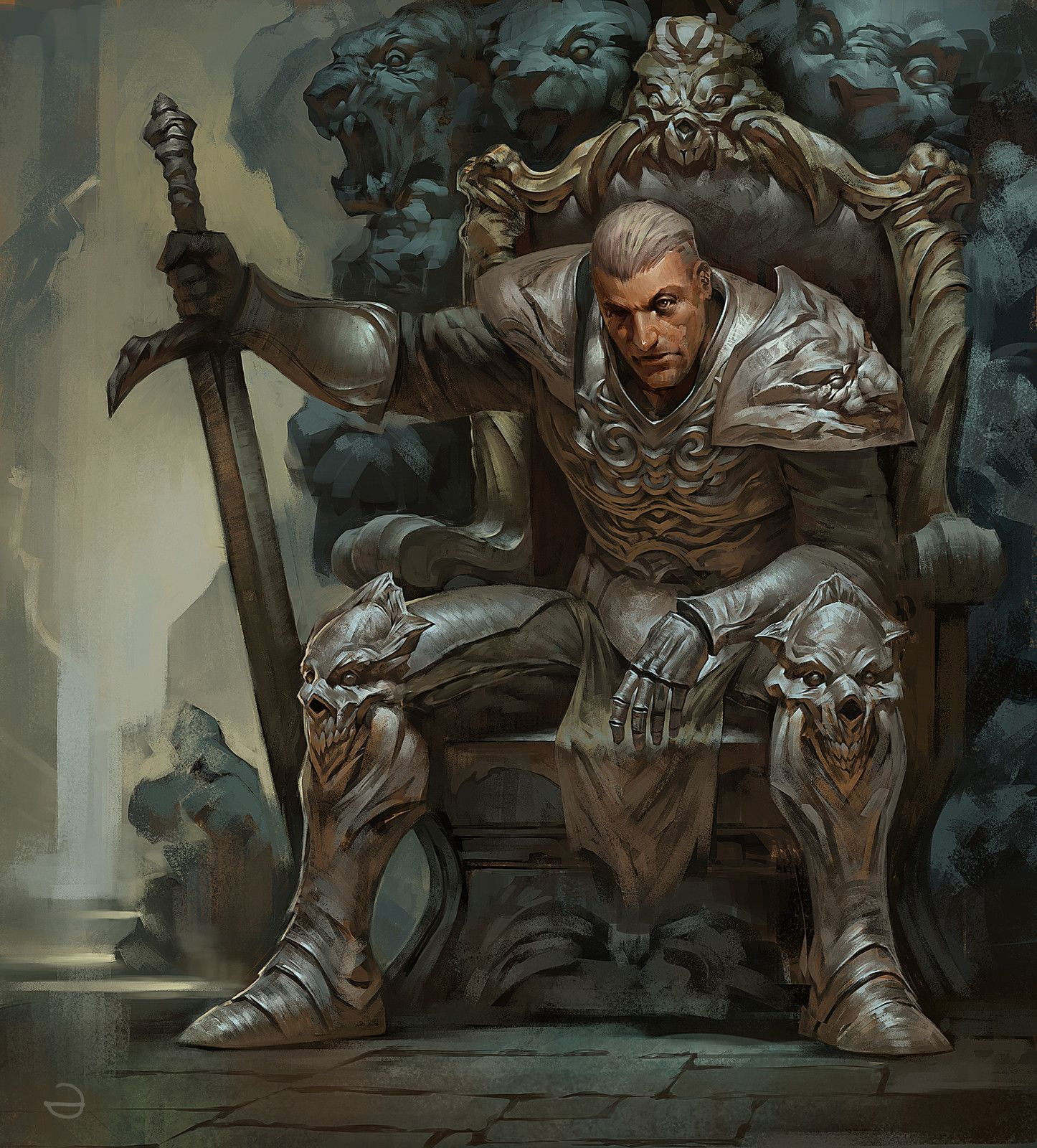 knight, Yerbol Bulentayev on ArtStation at https://www ...