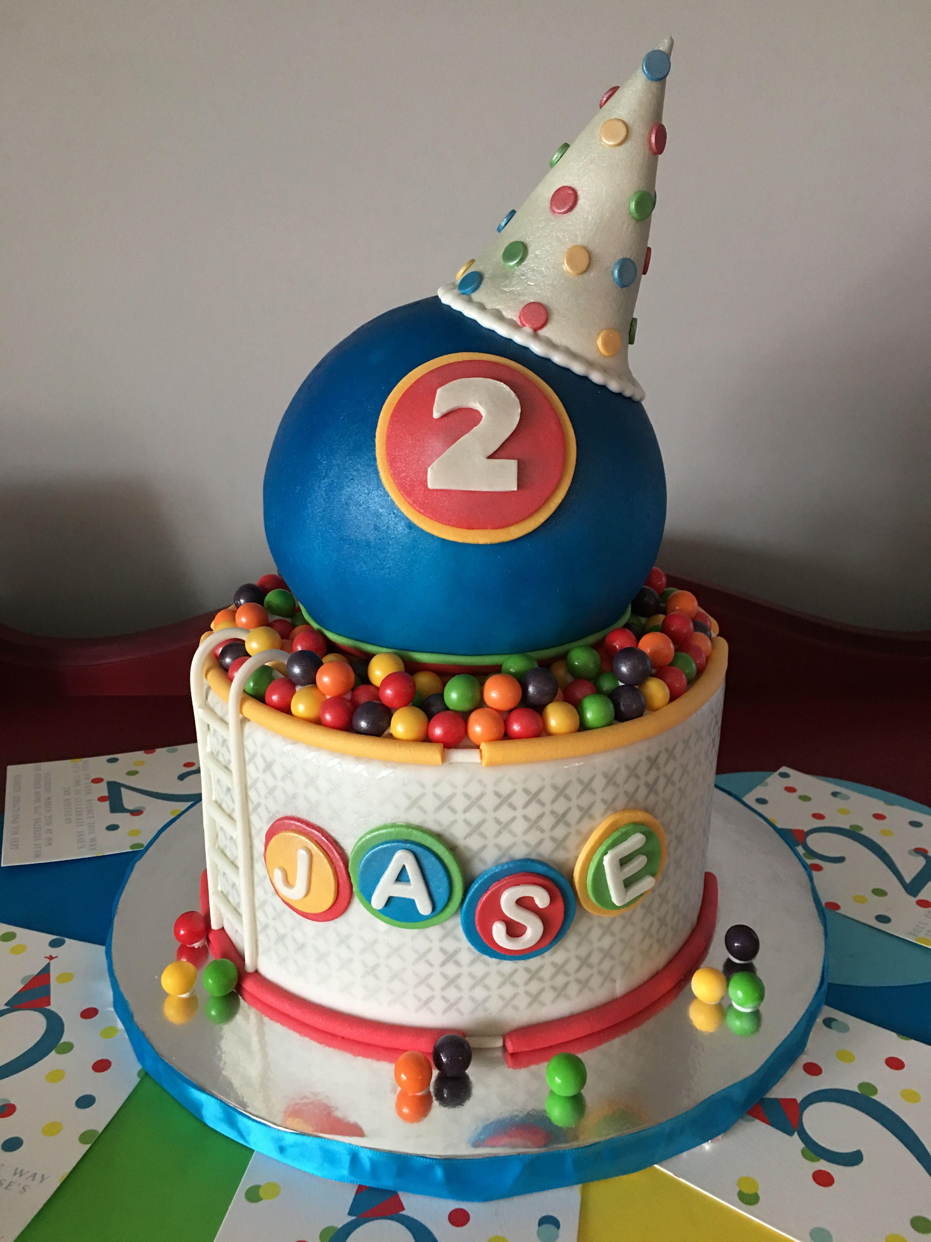 Pleasant Ball Pit Birthday Cake Jases 2Nd Birthday Bouncy Ball Funny Birthday Cards Online Inifodamsfinfo