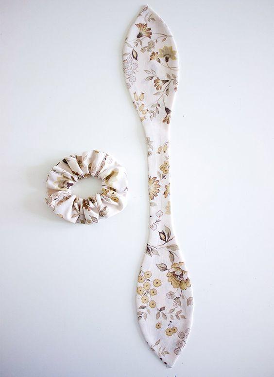 The Hemming- Scrap Fabric DIY Bow Scrunchie Tutorial.