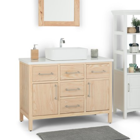 Brilliant Brooklyn Max Calder 42 Inch Bath Vanity With White Home Interior And Landscaping Ologienasavecom
