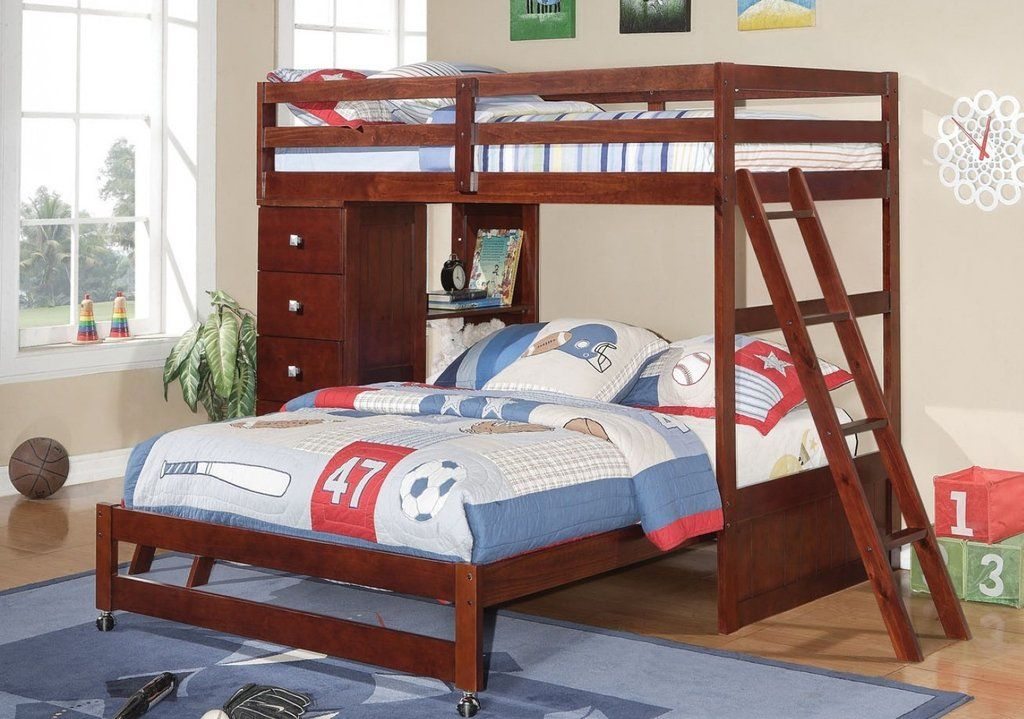 Jacob Twin over Full Bunk Bed with Dresser and Bookcase Furniture