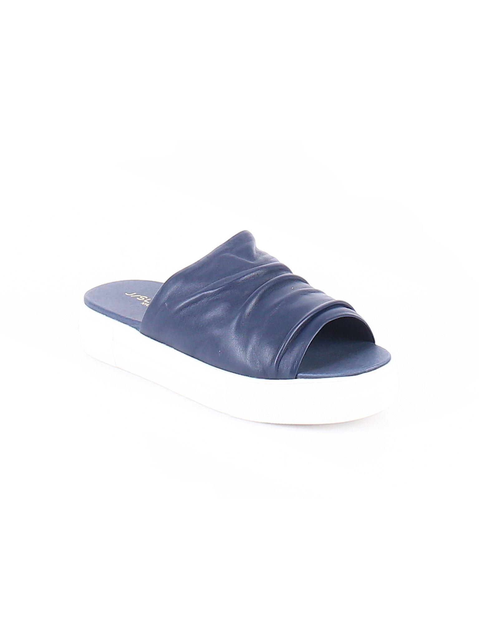 Navy blue sandals, Slide sandals