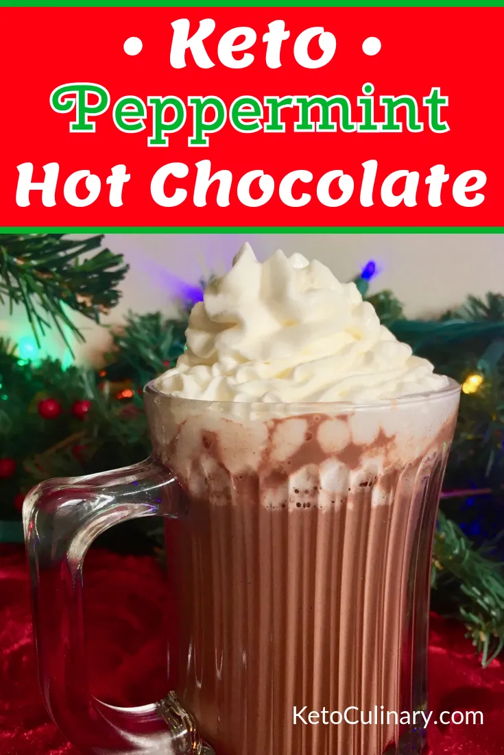 Keto Peppermint Hot Chocolate - Easy Keto Hot Chocolate Recipe #hotchocolaterecipe