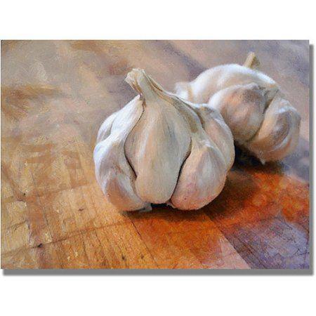 Trademark Fine Art Garlic Canvas Wall Art by Michelle Calkins, Size: 22 x 32, Multicolor