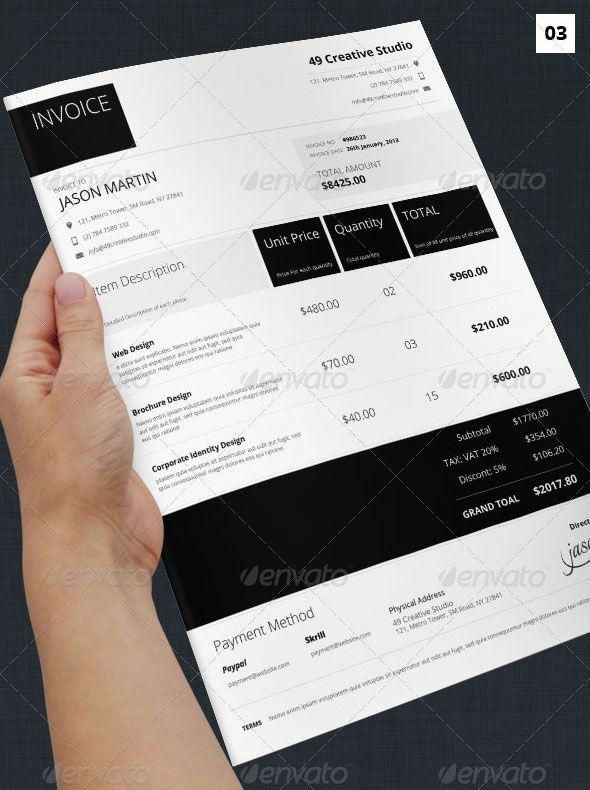 Indesign Invoice Template. Modern Clean Invoice. Next Gen Creative