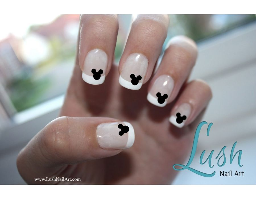 Mickey Mouse Ears Disney Nail Art Water Transfer Decal - Many Colors ...