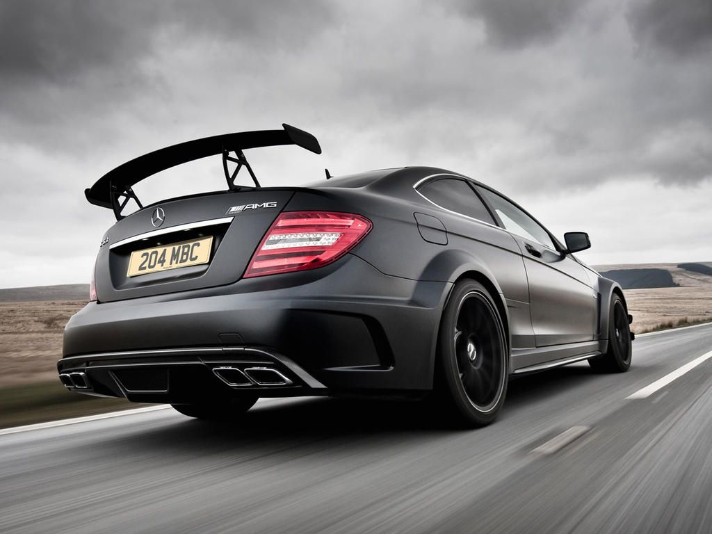 Matte Black C63 Amg Black Series With Images Mercedes Benz
