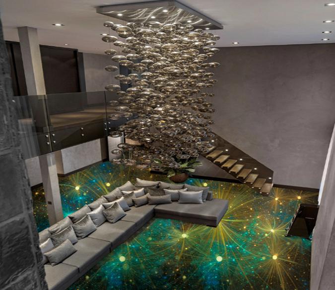 3D Star 137 Floor Mural   AJ Wallpaper