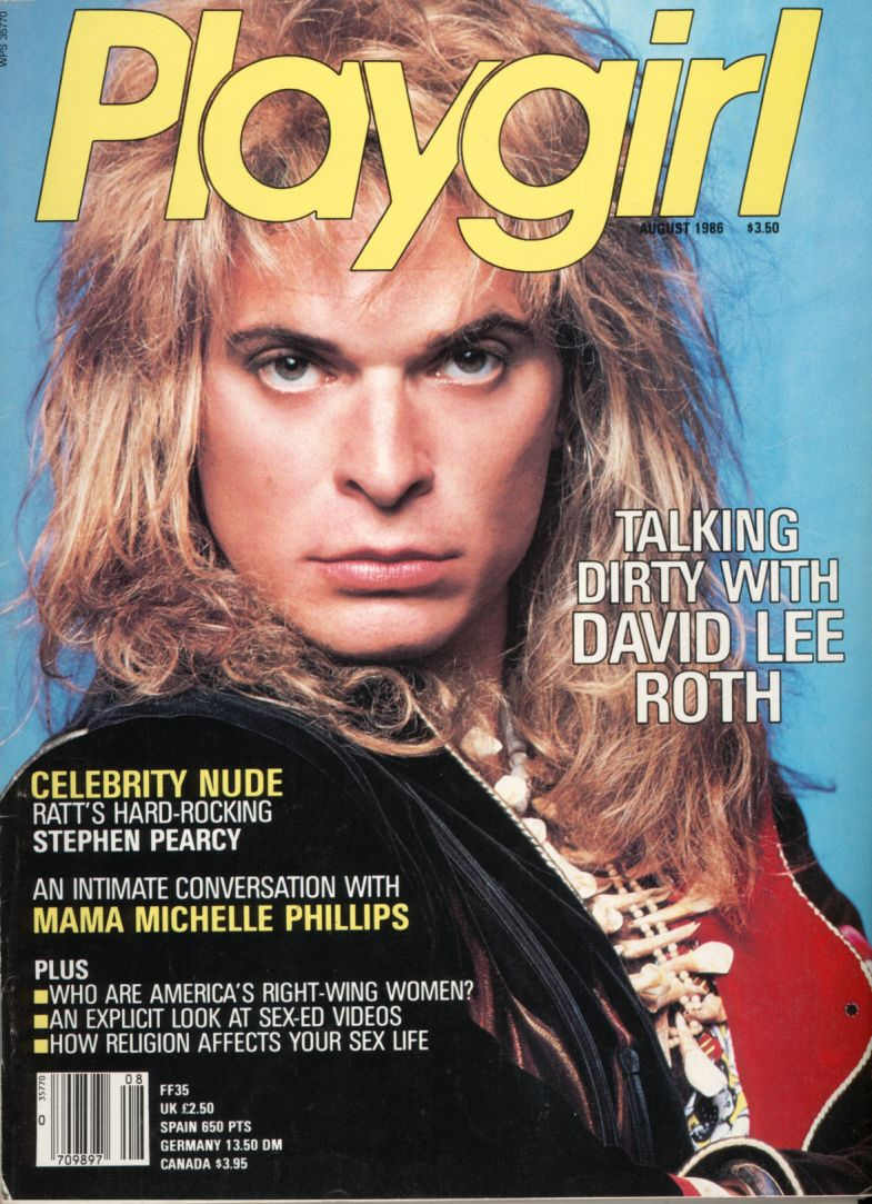 Playgirl David Lee Roth Jpg 785 1083 David Lee Roth David Lee Magazine Cover