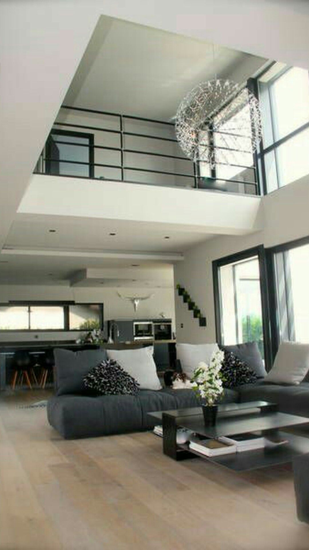 Beautiful 2 Storey Open To Above Architecture House Home Minimalist Living Room