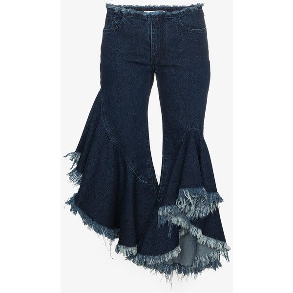 Low Shipping Cheap Price Ruffled Flare Raw Hem Jeans - Blue Marques Almeida Clearance Clearance Store Cheap Sale Clearance Store Exclusive Cheap Price Pc2alR9RwA