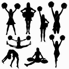 Cheerleading Sport Cheer Posters Cheerleading Silhouette Clip Art