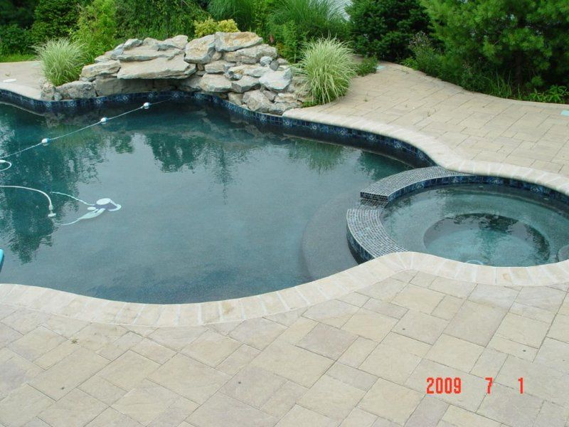 Paver Pool Deck   New Jersey Masonry Contractor