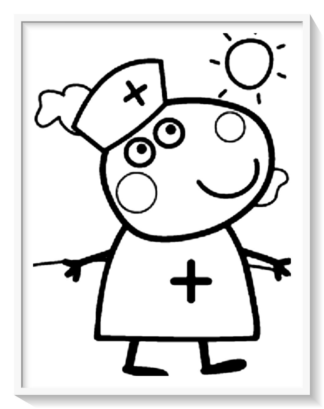 Dibujo Para Colorear Peppa Pig Para Ni 241 Os Peppa Pig