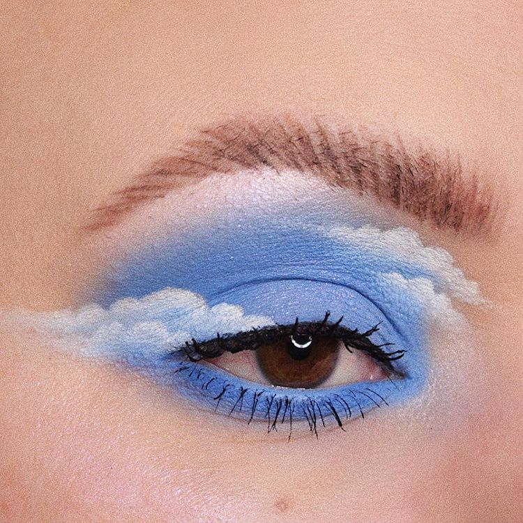 "Heather Moorhouse on Instagram: ""Happy little clouds • Turning into a regular eye look account over here aren't we? Here is my contribution to the lovely cloud trend.…"""
