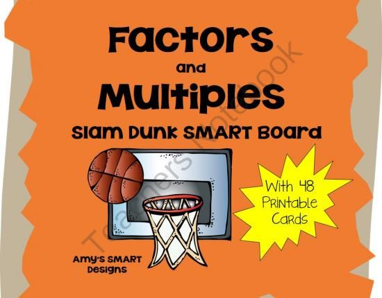 factors and multiples game printable