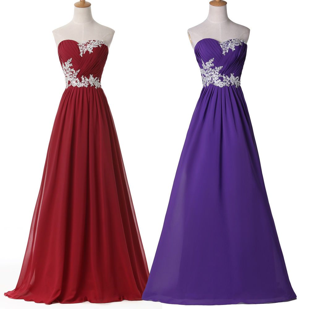 Pop fashion formal long chiffon wedding evening ball gown bridesmaid