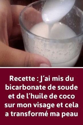 Recette: j'ai mis du bicarbonate de soude et de l'huile de coco sur ma vis ...