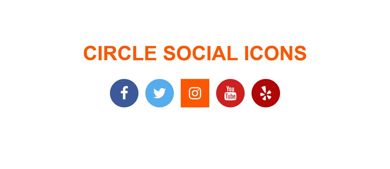 How To Create Circle Social Icons With Font Awesome Icon Hover Effect Social Icons Icon Website Design