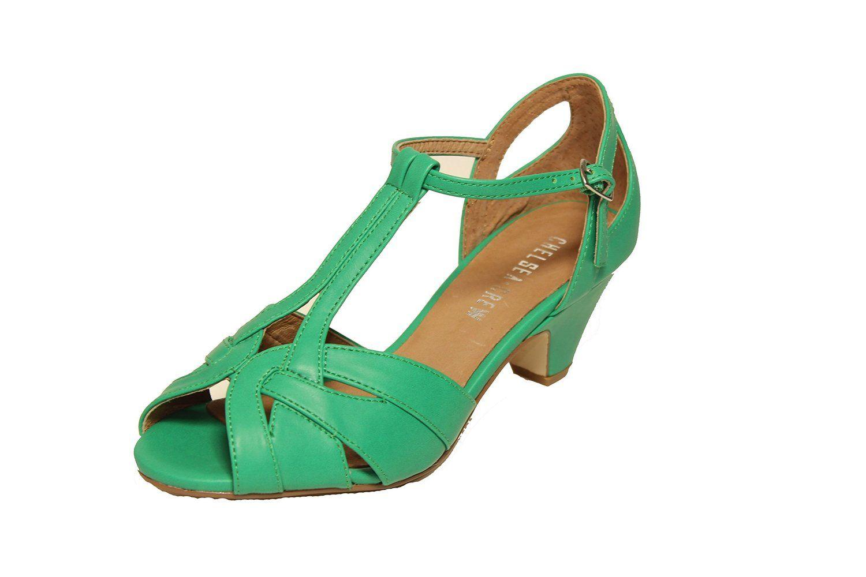 cc494c6e790b5 Amazon.com: Nina 2 Strappy Low Heel Sandal Green: Clothing | Green ...