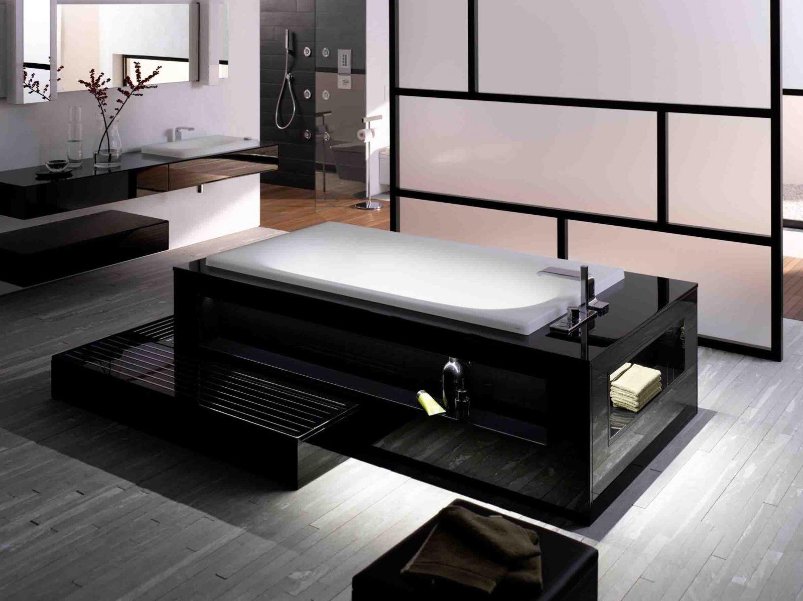 TOTO Sanitary Ware | Sapphire Spaces - Black bath surround, Japanese ...
