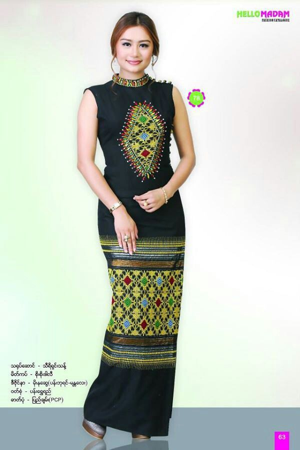 latest myanmar traditional dress design